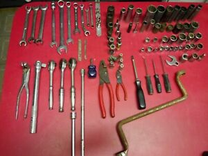 Snap On Tool Lot Wrenchs Ratchets Sockets Impact Speciality Tool Lot 90 Pcs