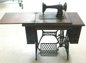 Antique Singer Sewing Machine With Table Local Pick Up Only