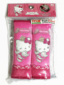 Hello Kitty Sanrio Car Suv 2 Pieces Seat Belt Covers Shoulder Pads Pair angel