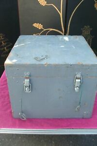 Gray Painted Storage Wood Box Vintage Antique Farmhouse Chic Coffee Table Sto