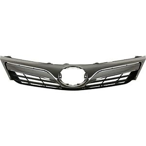 Grille For 2012 2014 Toyota Camry Black Plastic