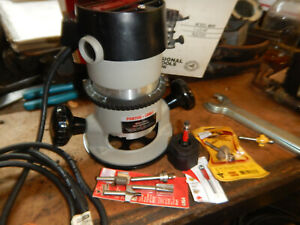 Usa Porter Cable 690 Router With 1 2 1 4 Collets Wrenches Router Bits Manual