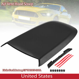 Black Hood Scoop With Adhesive Tape Fit For Ford Mustang Gt V8 2005 2009 Us