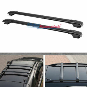 Black Top Roof Rack Luggage Cross Bar For Jeep Cherokee 2014 2017 2015 2016