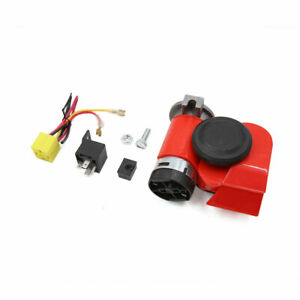 High Low Sound Nautilus Compact Air Pump Horn Dc 12v 139db For Car Motorcycle