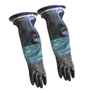 1 Pair Heavy Duty Gloves Protection 210mm With Clamp For Sandblasting