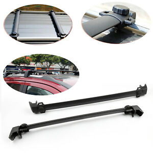 Roof Rack Cross Bars Rail Luggage Carrier For Jeep Compass 2011 16 4 Door Black