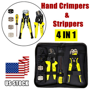 Wire Crimpers Ratcheting Screwdriver Terminal Crimping Pliers Cord End Tool Set