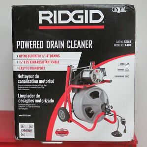 Ridgid K 400 Drain Cleaner W 3 8 X 75 Integral Wound Cable 1 3 Hp Motor New