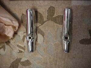 Pair Of Vintage Ford 1942 Re chromed Bumper Guards Perfect