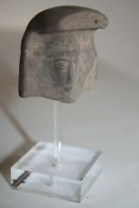 Ancient Greek Hellenistic Pottery Terracotta Head 4 3rd Century Bc