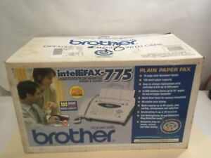 Brother Intellifax 775 Plain Paper Fax phone copier In Box k62