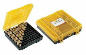 Plano 100 Count Handgun Ammo Hard Case Yellow Ammunition Box 9mm .38 .44 .45