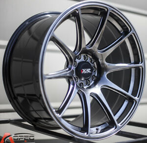 Xxr 527 19x8 75 Rims 5x114 3 38 Chromium Black Wheels Set Of 4