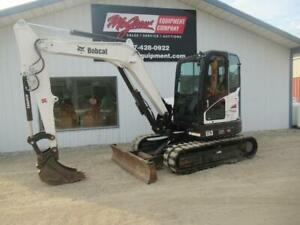 2014 Bobcat E63 Mini Excavator 2869 Hrs 59hp Cab Heat Air 3rd Valve