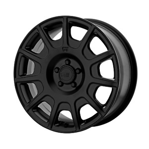 Four 4 15x7 Motegi Mr139 Et 15 Black 5x100 Wheels Rims