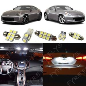 9x White Led Interior Lights Package Kit For 2009 2019 Nissan 370z Tool Nz1w