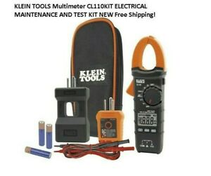 Klein Tools Multimeter Cl110kit Electrical Maintenance And Test Kit New