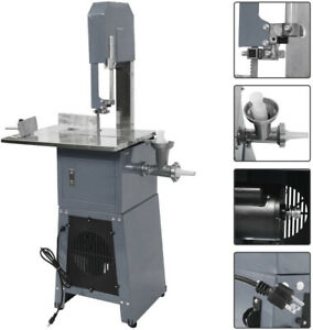 3 4hp Commercial Kitchen Standing Meat Butcher Saw Sausage Grinder Stuffer 550w