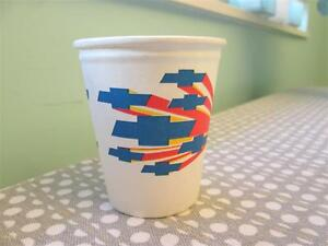 Vintage Chevrolet Paper Cups Colorful Bowtie 60 S 70 S Great For Car Guy Party