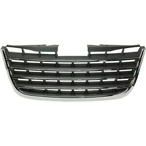 For 2008 2010 Chrysler Town Country Grille Chrome Trim With Dark Gray Insert