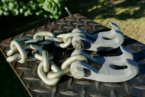 Abt Ab 1227 Two Single Claws With 3 8 Chain 25 Overall Length Made In Usa