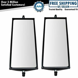 16 X 6 5 Stainless Steel West Coast Mirror Pair Pillow Back For Hd Semi Truck