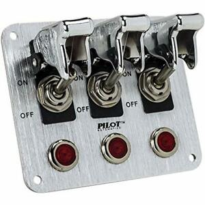 Pl sw53cr Performance Row Chrome Safety Cover Toggle Switch With Red Indicator