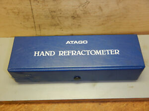 Clean Atago N 10 Refractometer With Case Manual Machine Shop Tooling Japan