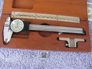 Brown Sharpe Swiss 6 Dial Caliper 599 579 2 With Depth Attachment Tool