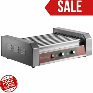Grand Slam 24 Hot Dog Roller Grill With 9 Rollers Home Restaurant 110v 1350w