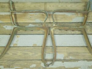 Vintage Cast Iron Park Bench Legs Steam Punk Table Base Rustic