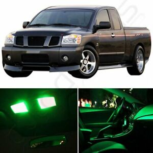 15x Green Car Led Light Package Kit Replacement For Nissan Titan 2004 2015