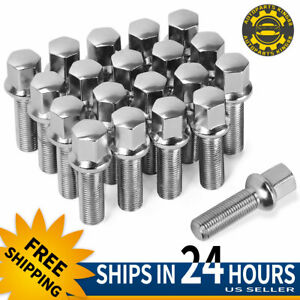 20 Extended 14x1 5 Lug Nuts Bolts Ball Seat 40mm Shank For Audi Vw Mercedes Benz