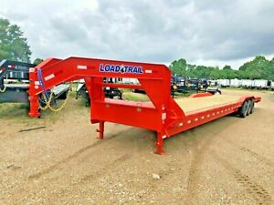40 Carhauler equipment Gooseneck Trailer load Trail 3 7k Axles orange brand New