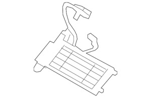 Genuine Ford Auxiliary Heater Cn1z 18k463 A