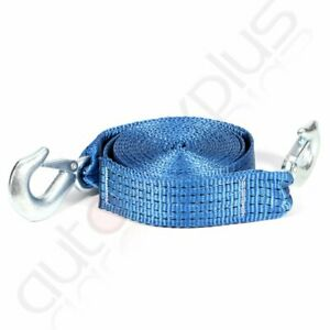 Heavy Duty Tow Winch Strap 2 X 20 Rope Hook Car Boat Trailer 13000lb Max Towing