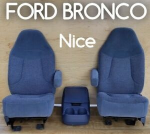 1992 Ford Truck Bronco Factory Reclining Bucket Seats Captain Chairs Oem Front