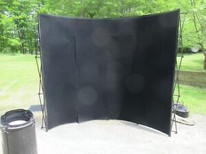 10 Popup Curved Trade Show Booth Display Backdrop W podium case