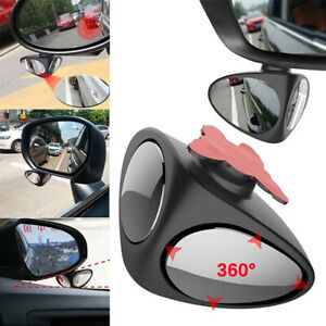 2 In 1 Car Blind Spot 360 Degree Rotation Adjustable Auxiliary Rear View Mirror