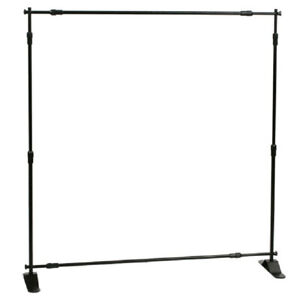 6 X 8 Banner Stand Backdrop Black