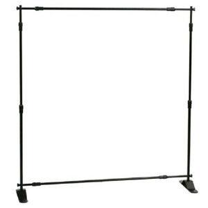8 X 8 Banner Stand Backdrop Black