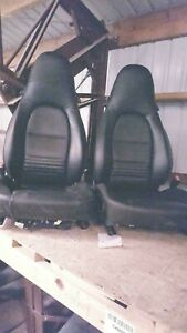 Porsche 911 Front Seat Set without Air Bag Carrera Cloth And Leather
