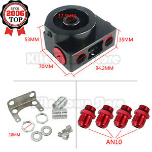 New Oil Filter Sandwich Adaptor With Remote Block With Thermostat An10 Aluminum