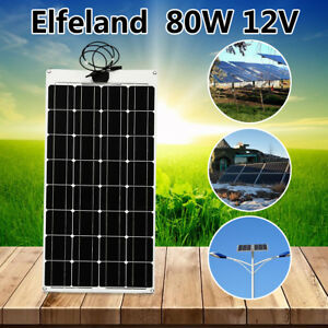 80w 12v Sunpower Etfe Mono Flexible Solar Panel Battery Charger For Home Rv Car
