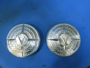 1941 Cadillac Fog Light Covers Filler Pair With Brackets