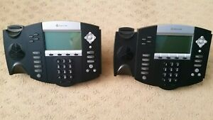 lot Of 2 Polycom Ip550 Voip Digital Telephones Used Good Condition