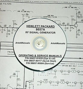 Hewlett Packard Ops Service Manuals 3volumes For The 8657a Rf Signal Generator