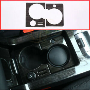 For Land Rover Discovery Sport Car Parts Wood Grain Cup Holder Frame Cover Trim