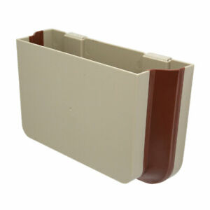 Beige Universal Car Auto Vehicle Seat Storage Box Pocket Organizer
